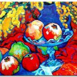 Fruit Trees Cezanne Paintings Famous Art