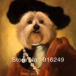 Funny S Wearing Black Hat Top Quality Hand Painted Animal Oil Painting