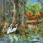 Gathering Louisiana Swamp Life Painting Dianne