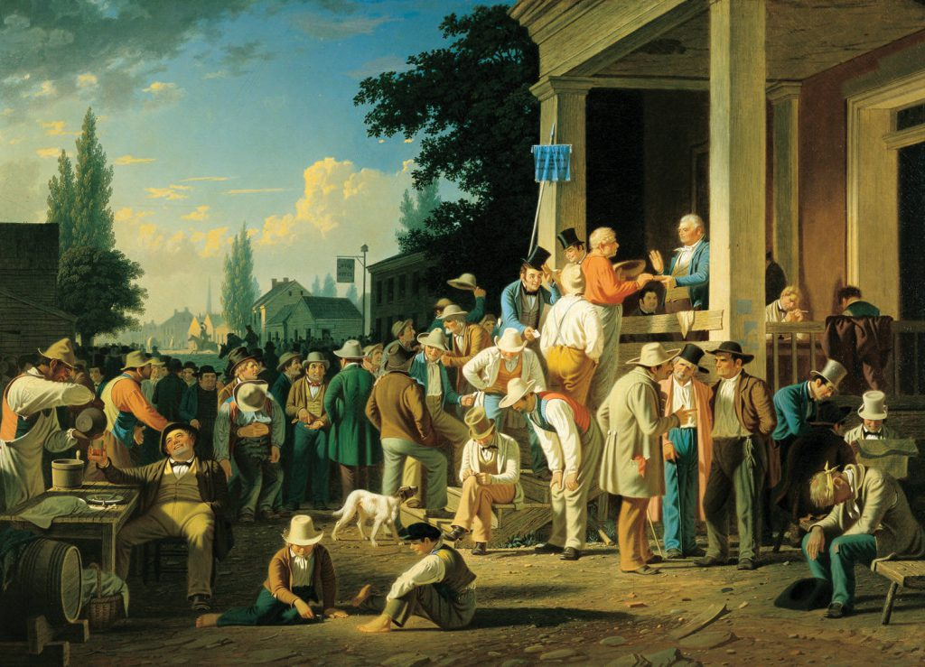 George Caleb Bingham County Election Humanities Picturing