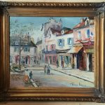 George Hann Oil Painting Canvas Signed Framed