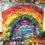 Giant Rainbow Collage Art Projects