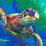 Giant Sea Turtle Painting Maria
