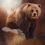 Great Strength Grizzly Bear Art Painting Jordan