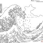 Great Wave Off Kanagawa Hokusai Coloring Printable