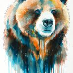 Grizzly Bear Painting Slavi