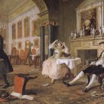 Group Painting Fashionable Marriage Breakfast William Hogarth Wholesale Oil