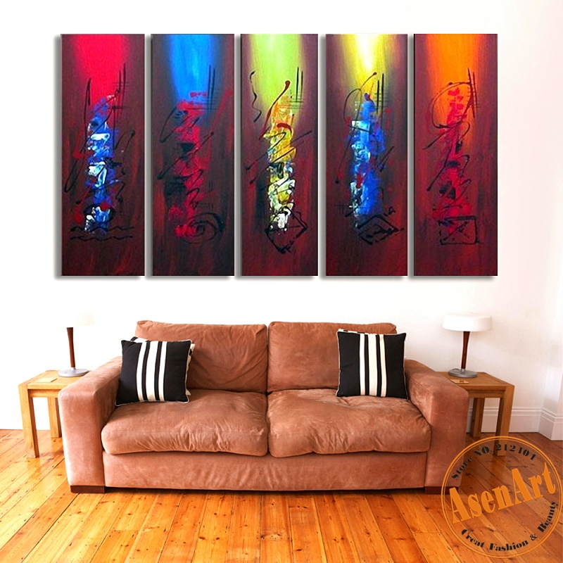 Hand Painted Canvas Oil Painting Abstract Wall Art Pcs Home Decor