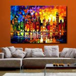 Hand Painted Large Canvas Oil Painting Modern Abstract Wall Art