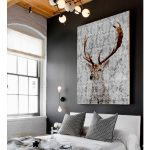 Highlands Stag Canvas Art Palm Valley