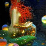 Home Decor Prints Oil Painting Canvas Wall Art Stretch Mermaids
