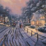 Hometown Christmas Memories Limited Edition Art Thomas Kinkade