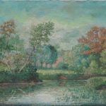 Impressionist Landscape Antiqu Early American Oil Painting Thomas Waghorne