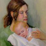 Indian Mother Baby Paintings Amazing Drawing