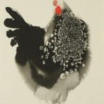 Ink Paintings Endre Penovac Year Rooster Bored