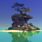 Island Digital Pinting Art Contemporary Artwork