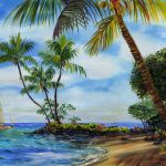 Island Scenes Archives Floravita Reverse Hand Painted Glass Chandeliers