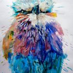Items Similar Colourful Abstract Bird Limited Edition Fine Art Print Painting