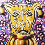 Items Similar Pitbull Painting Original Etsy Small Paintings Dogs Stretched