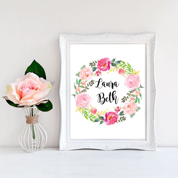Items Similar Printable Art Top Selling Shops Customized Gifts Her Baby Name