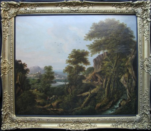 Jacob Hackert Circa German Dutch Jan Both Art Old Master Oil Painting