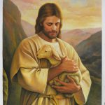 Jesus Christ Lamb High Quality Hand Painted