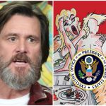 Jim Carrey Art Shows Trump Having Sex Stormy