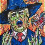 Jim Carrey Donald Trump Painting His Witch Portrait Twitter Hollywood