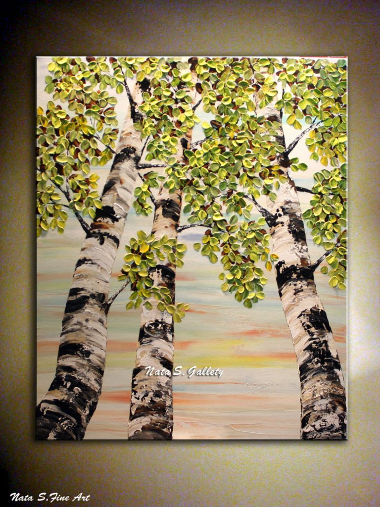 Just Mark Birch Tree Original Painting
