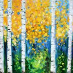 Karen Tarlton Original Oil Painting Birch Tree