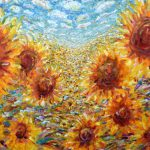 Large Sunflower Oil Painting Pete