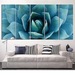 Large Wall Art Blue Agave Canvas Prints Flower Printing