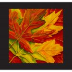 Leaf Paintings Oil Canvas Abstract Leaves Wendy Barrett