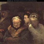 Leaving Theatre Honor Daumier Wikigallery Largest