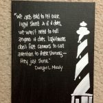 Lighthouse Canvas Inspirational Painting Quote Art Pinterest