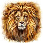 Lion Head Front Painting Marcin