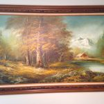 Looking Identify Artist Oil Painting Maybe Northern Artifact