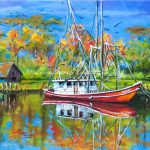 Louisiana Shrimp Boat Art