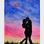 Love Until End World Watercolor Painting Leone