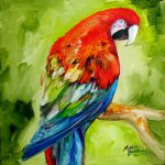 Macaw Tropical Painting Marcia