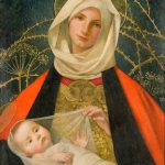 Madonna Marianne Stokes Giclee Canvas Print Repro