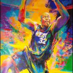 Malcolm Farley Shaquille Neal Basketball Player Original Paintings Canvas