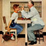 Marmont Hill Eye Doctor Norman Rockwell Painting Print Wrapped Canvas Reviews