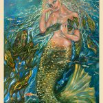 Mermaid Painting Watercolor Technique Mixed