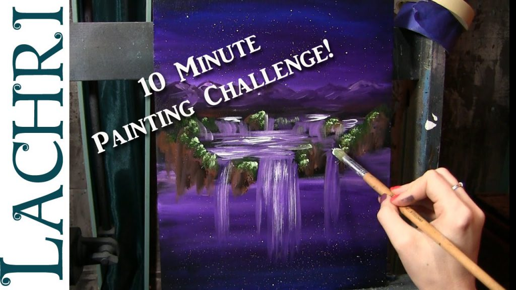 Minute Painting Challenge Easy Acrylic Lachri