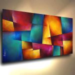 Modern Abstract Art Contemporary Giclee Canvas Print Michael Lang Painting