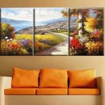 Modern Abstract Huge Wall Art Oil Painting Canvas Frame