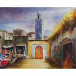 Moroccan Street Oil Painting Marrakech