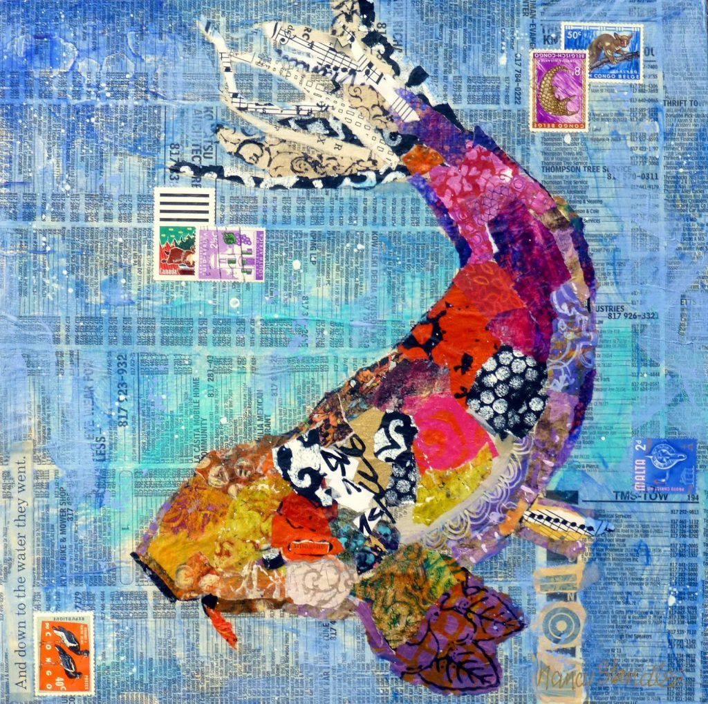 Nancy Standlee Fine Art Artbyte Collage Tutorial Ready Etsy Nancystandleeart
