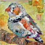 Nancy Standlee Fine Art Rooster Bird Torn Paper Collage Paintings Texas Daily